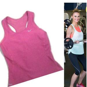 Nike Dri-Fit Fuschia Pink stretch T-back sports